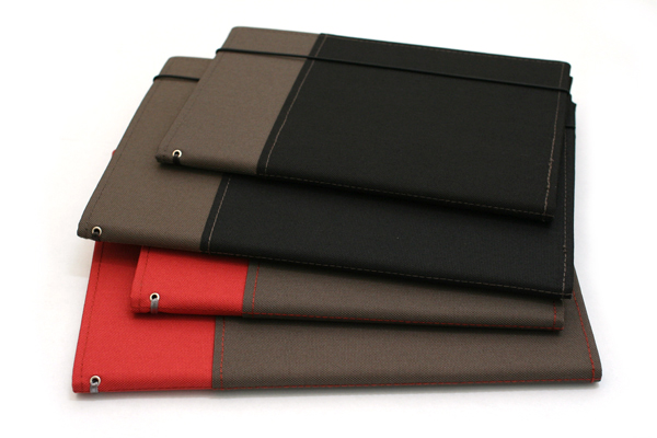 Kokuyo Systemic Refillable Notebook Cover - A5 - Normal Rule - Red/Gray - KOKUYO NO-655A-2