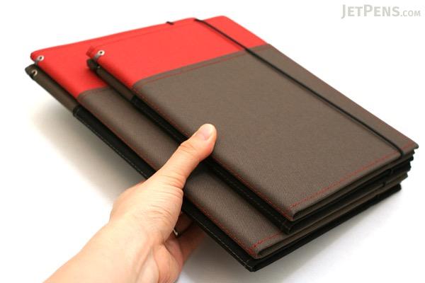 Kokuyo Systemic Refillable Notebook Cover - A5 - Normal Rule - Gray/Black - KOKUYO NO-655A-1