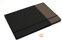Kokuyo Systemic Refillable Notebook Cover - Semi B5 - Normal Rule - Gray/Black - KOKUYO NO-653A-1