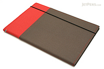 Kokuyo Systemic Refillable Notebook Cover - Semi B5 - Normal Rule - Red/Gray - KOKUYO NO-653A-2