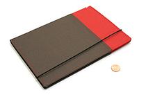 Kokuyo Systemic Refillable Notebook Cover - A5 - Normal Rule - Red/Gray - KOKUYO NO-655A-2