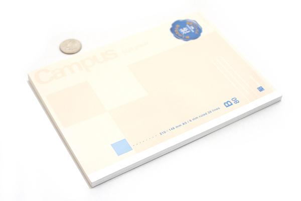 Kokuyo Campus High Grade MIO Paper Notebook - A5 - Blue Accents - KOKUYO NO-GG108B