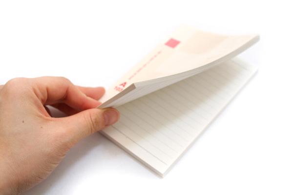 "Kokuyo Campus High Grade MIO Paper Pocket Notebook - 5.7"" X 3.4"" - 18 Lines X 103 Sheets - Red Accents - Bundle of 5 - KOKUYO NO-GG220PA BUNDLE"
