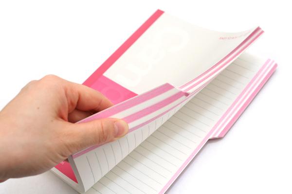"Kokuyo Campus Paracuruno Slanted Page Notebook - A5 (5.8"" X 8.3"") - 24 Lines X 80 Sheets - Pink - Bundle of 5 - KOKUYO NO-R108A-P BUNDLE"