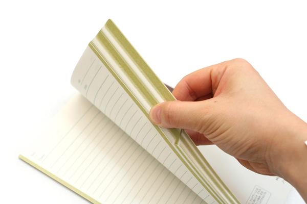 "Kokuyo Campus Paracuruno Slanted Page Notebook - A5 (5.8"" X 8.3"") - 28 Lines X 80 Sheets - Lime Green - Bundle of 5 - KOKUYO NO-R108B-YG BUNDLE"