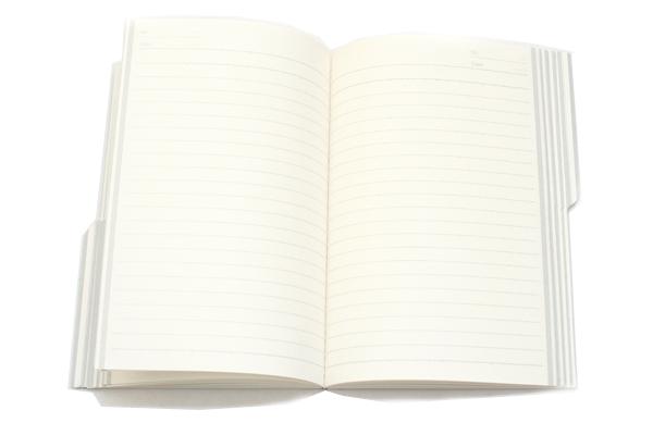 "Kokuyo Campus Paracuruno Slanted Page Notebook - A5 (5.8"" X 8.3"") - 21 Lines X 80 Sheets - Gray - Bundle of 5 - KOKUYO NO-R108U-M BUNDLE"