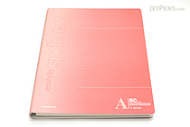 "Kokuyo Campus High Grade CYO-BO Paper Notebook - B5 (6.9"" X 9.8"") - 29 Lines X 80 Sheets - Red - KOKUYO SU-GDC8A"