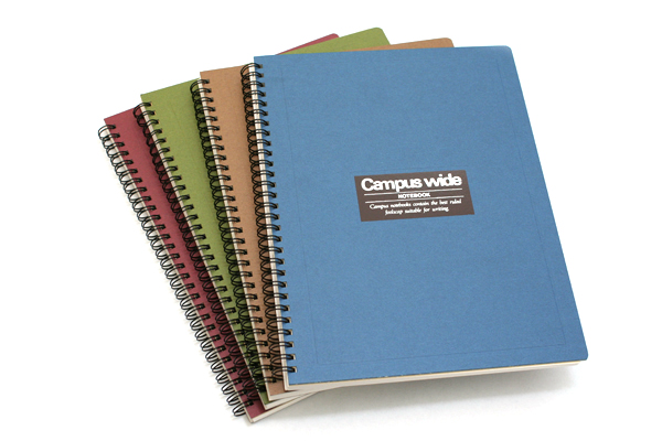 "Kokuyo Campus Wide Twin Ring Notebook - Special B5 (7.5"" X 10"") - 30 Lines - 70 Sheets - Blue - Bundle of 5 - KOKUYO SU-T30A-B BUNDLE"