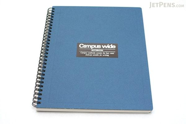 Kokuyo Campus Wide Twin Ring Notebook - Special B5 - Blue - KOKUYO SU-T30A-B
