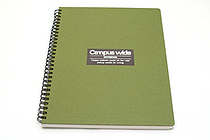 Kokuyo Campus Wide Twin Ring Notebook - Special B5 - Green - KOKUYO SU-T30B-G