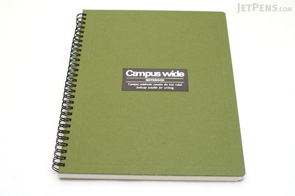 Kokuyo Campus Wide Twin Ring Notebook - Special B5 - Green - KOKUYO SU-T30B-G