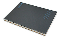 "Kokuyo Inspiracion Perforated Page Twin Ring Notebook - Semi B5 (7"" X 9.8"") - Normal Rule - 31 Lines - 50 Sheets - Black - KOKUYO SU-TV90A-D"