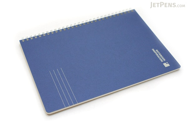 "Kokuyo Inspiracion Perforated Page Twin Ring Notebook - Semi B5 (7"" X 9.8"") - Normal Rule - 31 Lines - 50 Sheets - Dark Blue - KOKUYO SU-TV90A-DB"