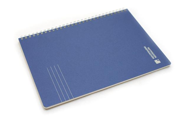 "Kokuyo Inspiracion Perforated Page Twin Ring Notebook - Semi B5 (7"" X 9.8"") - Normal Rule - 31 Lines - 50 Sheets - Dark Blue - KOKUYO SU-TV90A-DB"
