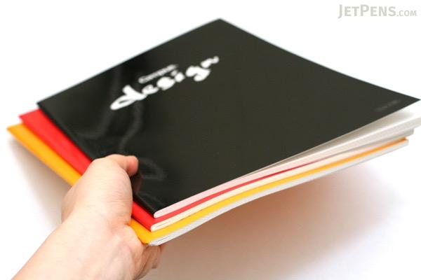 Kokuyo Campus Design Notebook - A4 - 3 mm Graph - Yellow - KOKUYO YOSA-10Y