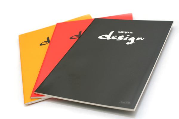 "Kokuyo Campus Design Notebook - A4 (8.3"" X 11.7"") - 3 mm Graph - 30 Sheets - Yellow - Bundle of 10 - KOKUYO YOSA-10Y BUNDLE"