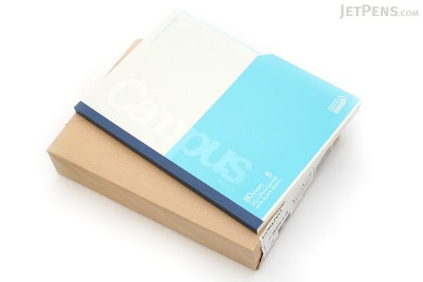 "Kokuyo Campus Paracuruno Slanted Page Notebook - Semi B5 (7"" X 9.8"") - 35 Lines - 80 Sheets - Light Blue - Bundle of 5 - KOKUYO NO-R8B-LB BUNDLE"