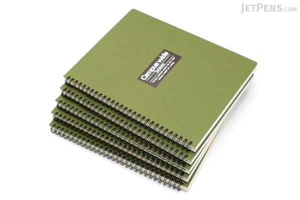 "Kokuyo Campus Wide Twin Ring Notebook - Special B5 (7.5"" X 10"") - 35 Lines - 70 Sheets - Green - Bundle of 5 - KOKUYO SU-T30B-G BUNDLE"