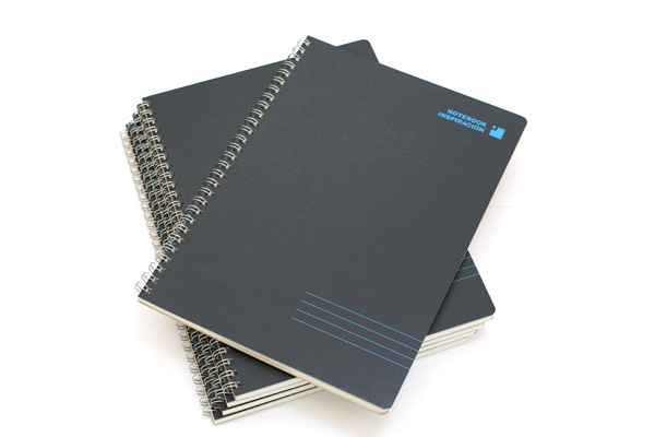 "Kokuyo Inspiracion Perforated Page Twin Ring Notebook - Semi B5 (7"" X 9.8"") - Normal Rule - 31 Lines - 50 Sheets - Black - Bundle of 5 - KOKUYO SU-TV90A-D BUNDLE"