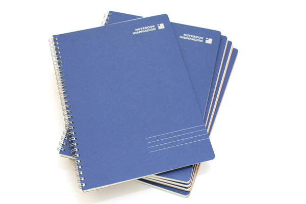 "Kokuyo Inspiracion Perforated Page Twin Ring Notebook - Semi B5 (7"" X 9.8"") - Normal Rule - 31 Lines - 50 Sheets - Dark Blue - Bundle of 5 - KOKUYO SU-TV90A-DB BUNDLE"