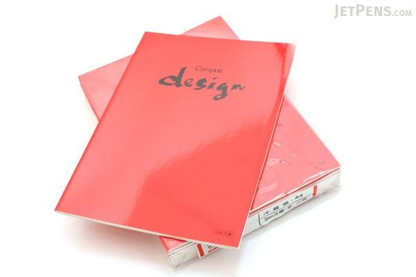 "Kokuyo Campus Design Notebook - A4 (8.3"" X 11.7"") - 3 mm Graph - 30 Sheets - Red - Bundle of 10 - KOKUYO YOSA-10R BUNDLE"