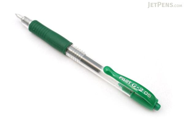 Pilot G2 Gel Pen - 0.5 mm - Green - PILOT G25--GRN-BC