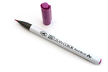 Kuretake Clean Color Real Brush Pen - Purple - KURETAKE RB-6000AT-082