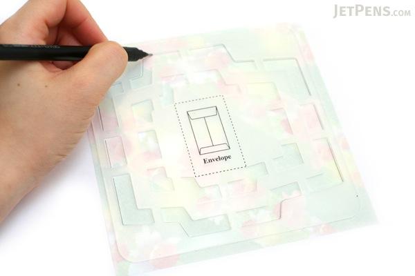 Kuretake Handmade Mini Envelope Template - KURETAKE SBTP208-21