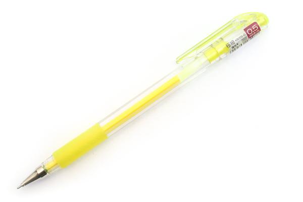 Pentel Hybrid Technica Cap Gel Ink Pen - 0.5 mm - Fluorescent Yellow - PENTEL KN105-G