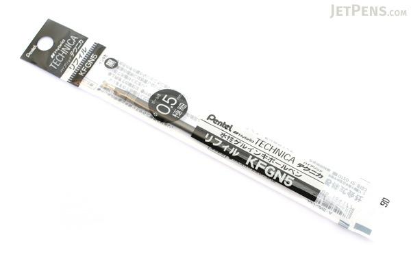Pentel Hybrid Technica Gel Pen Refill - 0.5 mm - Black - PENTEL XKFGN5-A
