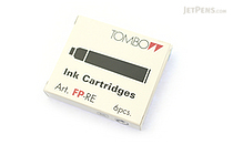 Tombow Fountain Pen Ink Cartridge - Blue - Pack of 6 - TOMBOW FP-RE15
