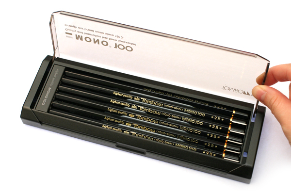 Tombow Mono 100 Pencil - 2B - Pack of 12 - TOMBOW MONO-1002B BUNDLE
