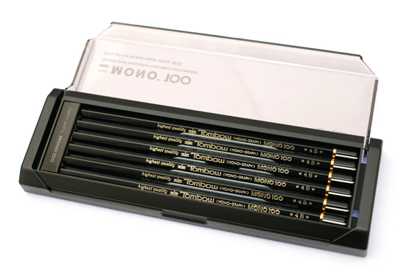 Tombow Mono 100 Pencil - 4B - Pack of 12 - TOMBOW MONO-1004B BUNDLE