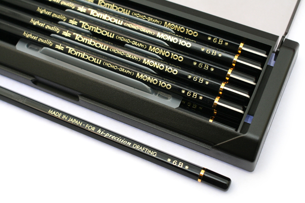 Tombow Mono 100 Pencil - 6B - Pack of 12 - TOMBOW MONO-1006B BUNDLE