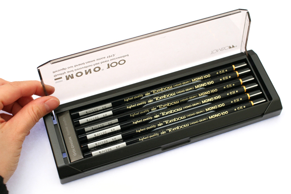 Tombow Mono 100 Pencil - 6H - Pack of 12 - TOMBOW MONO-1006H BUNDLE