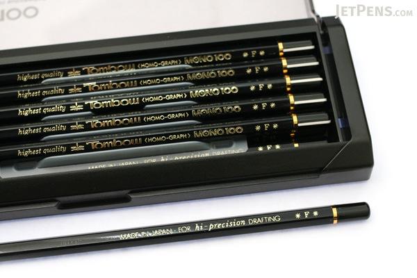 Tombow Mono 100 Pencil - F - Pack of 12 - TOMBOW MONO-100F BUNDLE