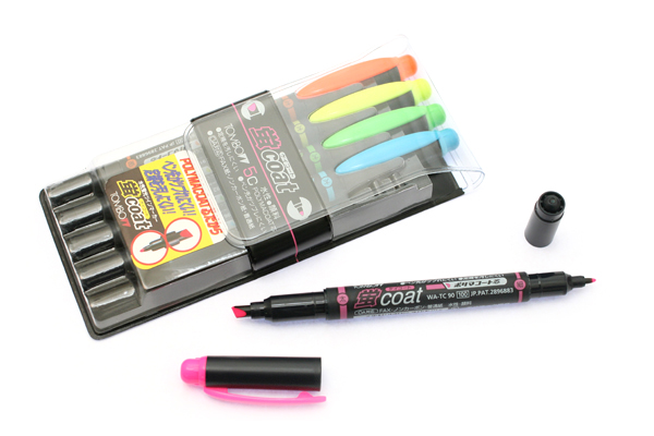 Tombow Kei Coat Double-Sided Highlighter - 5 Color Set - TOMBOW WA-TC5C