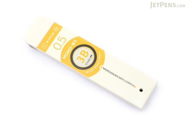 Tombow Mono-WX Pencil Lead - 0.5 mm - 3B - TOMBOW R5-WX3B