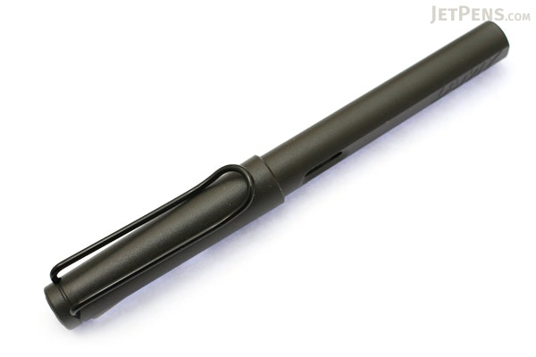 Lamy Safari Fountain Pen - Charcoal Black - Fine Nib - LAMY L17F