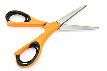 Kokuyo AiroFit Non-Stick Scissors - Slim Handle - Yellow Grip - KOKUYO HASA-P200NYR