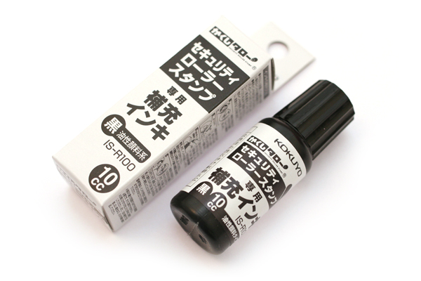 Kokuyo Security Roller Stamp Ink Refill - 10 cc - KOKUYO IS-R100