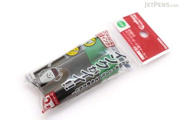 Kokuyo Inkga-e Refillable Whiteboard Marker Pen Refill Cartridge - Green - Pack of 2 - KOKUYO PMR-B3G