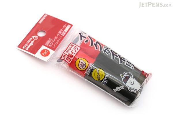 Kokuyo Inkga-e Refillable Whiteboard Marker Pen Refill Cartridge - Red - Pack of 2 - KOKUYO PMR-B3R