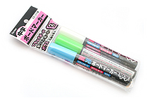 Raymay Fluorescent Board Marker Pen Set - 2 mm - Pack of 3 - Blue + Green + White - RAYMAY LBM79