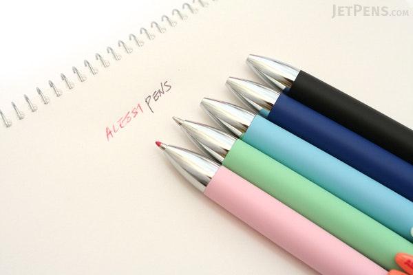 Uni Alessi Anna Model 2 Color Ballpoint Multi Pen - 0.7 mm - Pink Body - UNI SE21000AL.13