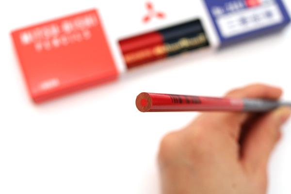 Uni Mitsubishi Vermilion and Prussian Blue Pencil - 5:5 - Pack of 12 - UNI K2667 BUNDLE