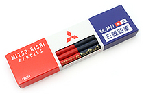 Uni Mitsubishi Vermilion and Prussian Blue Pencil - 5:5 - Pack of 12 - UNI K2667 BUNDLE