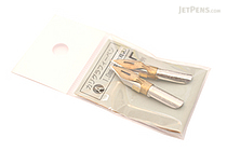 Tachikawa Calligraphy Pen Nib - Type A (Flat) - 1 mm - Pack of 2 - TACHIKAWA CALLI-A-1