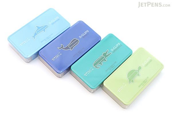 Midori D-Clips Paper Clips - Aquarium Series - Crocodile - Box of 30 - MIDORI 43182-006