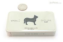 Midori D-Clips Paper Clips - Pet Series - Cat - Box of 30 - MIDORI 43185-006